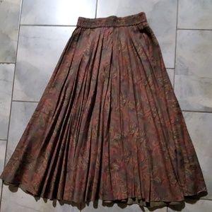 Jones New York Paisley Long Skirt 10